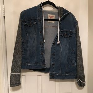 Mossimo Supply Co. Hooded Button Up Jean Jacket